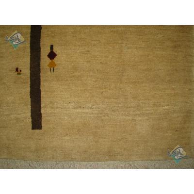 پرده ای دستباف گبه قشقایی طرح تک درخت رنگ گیاهی