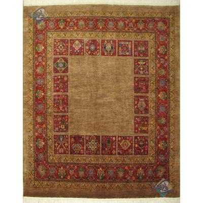 Square Carpet Qashghai Handwoven Simple Design All Wool