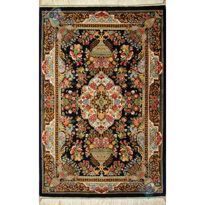 Mat Qom Carpet Handmade Flower Design All Silk