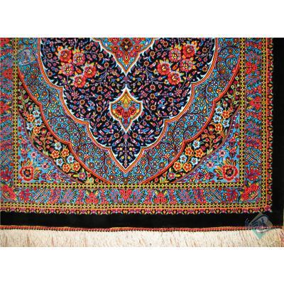Mat Qom Carpet Handmade Bergamot Design All Silk