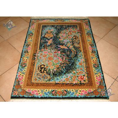 Zar-o-Charak Qom Handwoven Boteh Design
