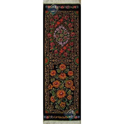 Tableau Carpet Handwoven Qom Two Inscriptions Design all Silk