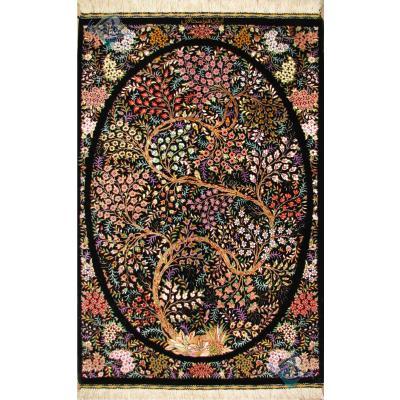 Tableau Carpet Handwoven Qom life Tree Design all Silk