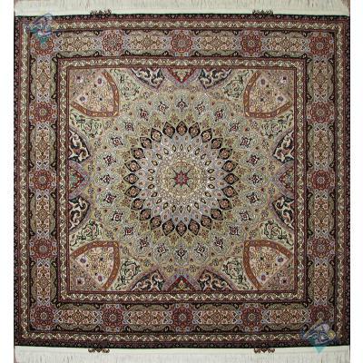 Square Tabriz Carpet Handmade New Dome Design