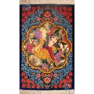 Pair Mat Qom Carpet Handmade Leili Design
