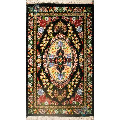 Pair Mat Qom Carpet Handmade Bergamot Design
