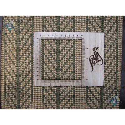 زیر تلفنی دستباف گبه شیرازی سه سرو خشت تمام پشم با قاب جدید