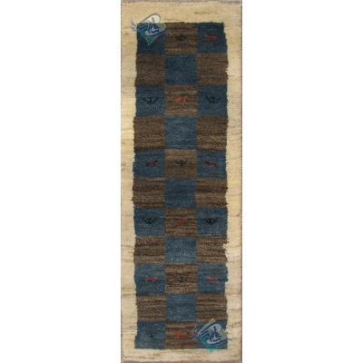 Runner Gabeh Handmade Chess Design All Wool