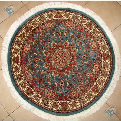 Circle Bidjar Handwoven Carpet Bergamot Design