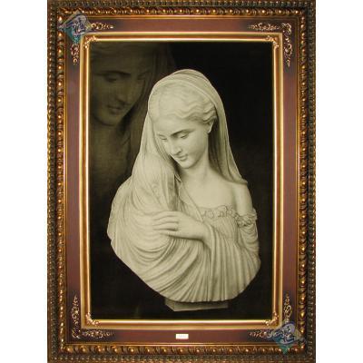 Tabriz Tableau Carpet Virgin Mary statue