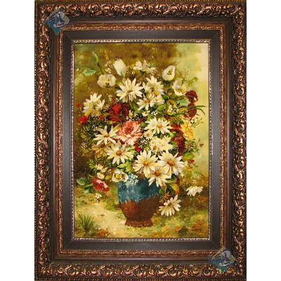 Tabriz Tableau Carpet Flower pot