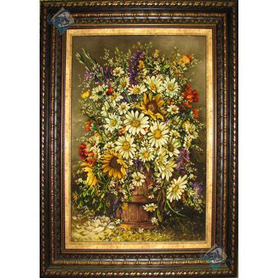 Tabriz Tableau Carpet Bucket Flowers
