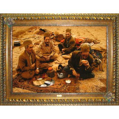 Tabriz Tableau Carpet Tea tribes