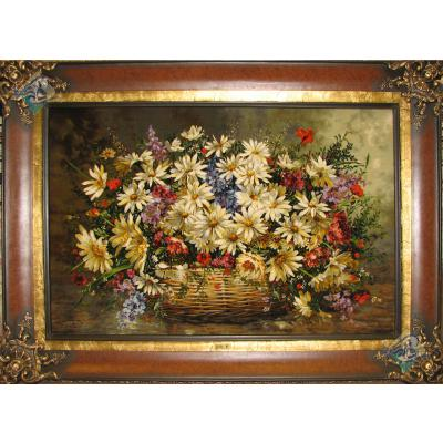 Tabriz Tableau Carpet Basket Flowers