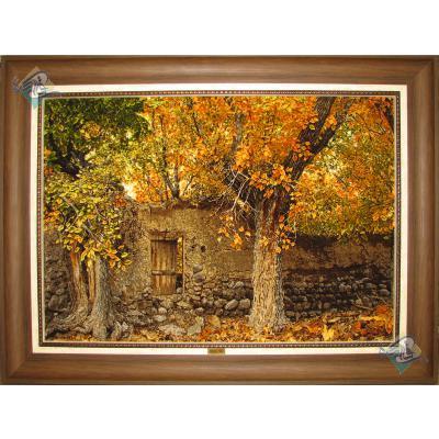 Tableau Carpet Handwoven Tabriz Berry Garden Design