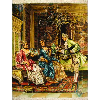 Tableau Carpet Handwoven Tabriz Josephine's party Design