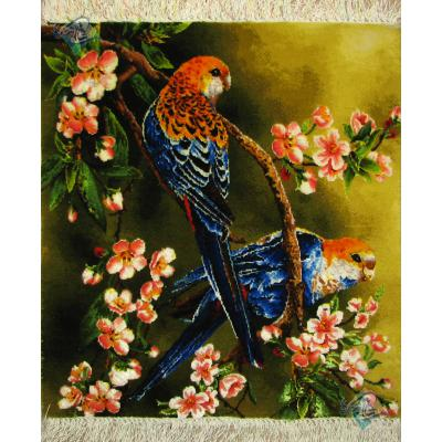 Tableau Carpet Handwoven Tabriz Two birds Design