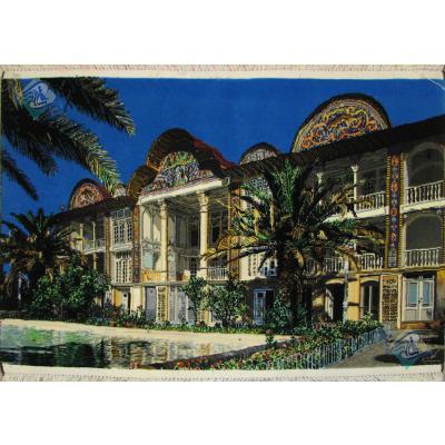 Tableau Carpet Handwoven Tabriz Eram Garden of Shiraz Design