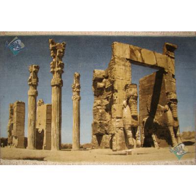 Tableau Carpet Handwoven Tabriz Gate of All Nations Design