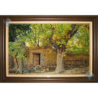 Tableau Carpet Handwoven Tabriz Mulberry garden Design