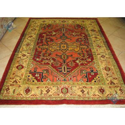 قالیچه هریس روستایی پشم دست ریس گیاهی