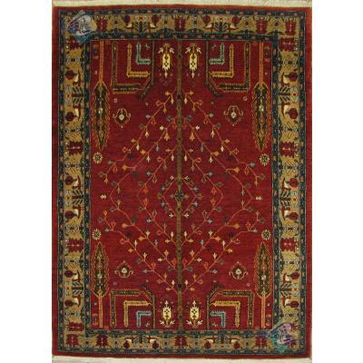 قالیچه سنندج کردستان پشم دست ریس و رنگ گیاهی