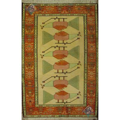 قالیچه گلیم ابریشم دشت مغان دستباف