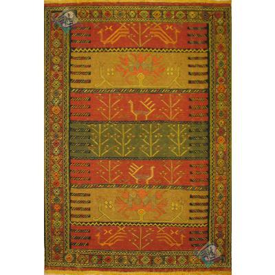 قالیچه سوزنی قوچان نقشه محرمات تمام پشم رنگ گیاهی