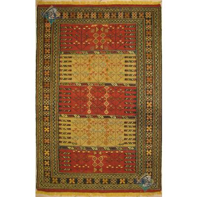 گلیم سوزنی دستباف قوچان قالیچه تمام پشم رنگ گیاهی