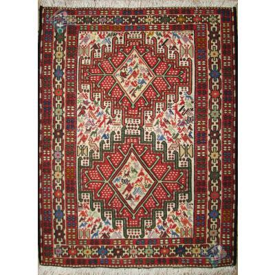 Zar-o-Charak Kilim Ardabil Silk Handmade