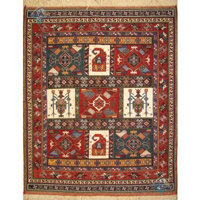 قالیچه دستباف گلیم سوزنی سیرجان تمام پشم رنگ گیاهی ریز باف