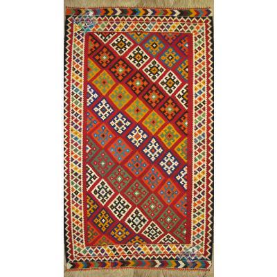 Rug ghashghai Kilim Handmade Adobe Design