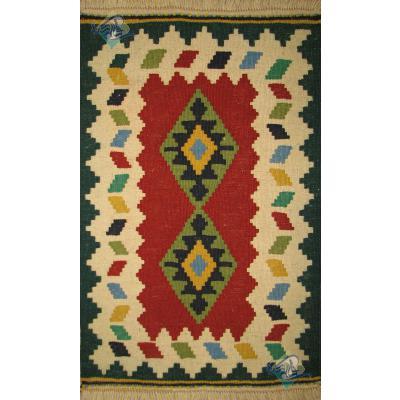 رومیزی دستباف گلیم قشقایی شیرازی نقشه حوضی تمام پشم